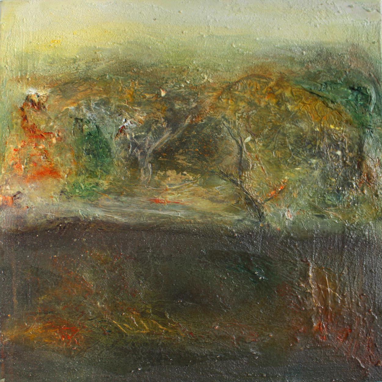 """2012-11 / """"Der Herbstwald"""" / 40 x 40 cm"""