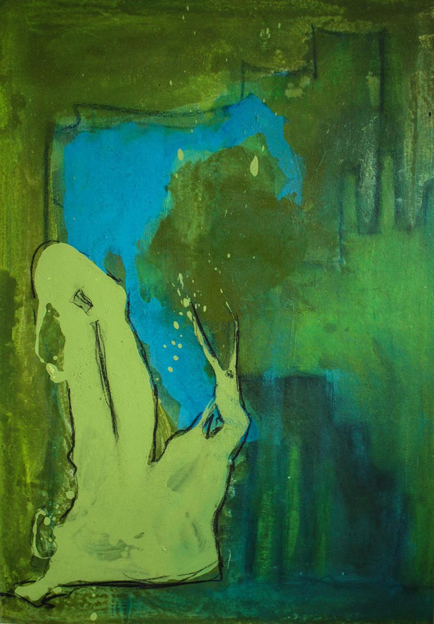 """2012-12 (1 von 2 Bilder) / """"Das Spiel der Farben"""" / 100 x 70cm"""