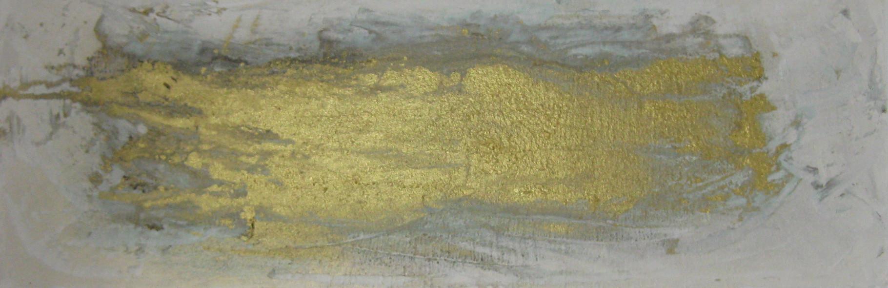 """2015-07 / """"Der Goldfluss III"""" / 40 x 120 cm"""
