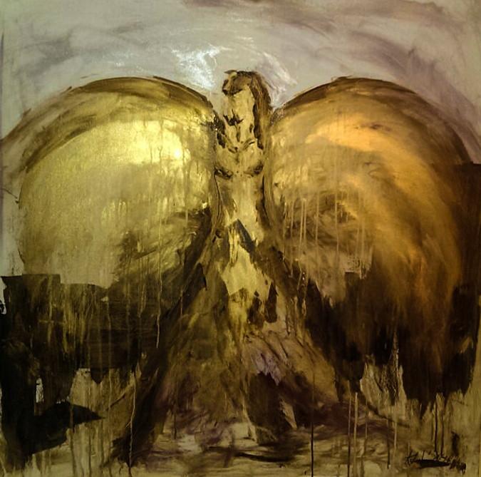 """2014-17 / """"Erzengel"""" / 100 x 100 cm"""