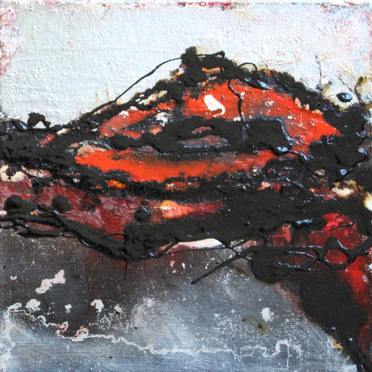 """2014-16 (2 von 2 Bilder) / """"Im Fluss"""" / 20 x 20 cm"""