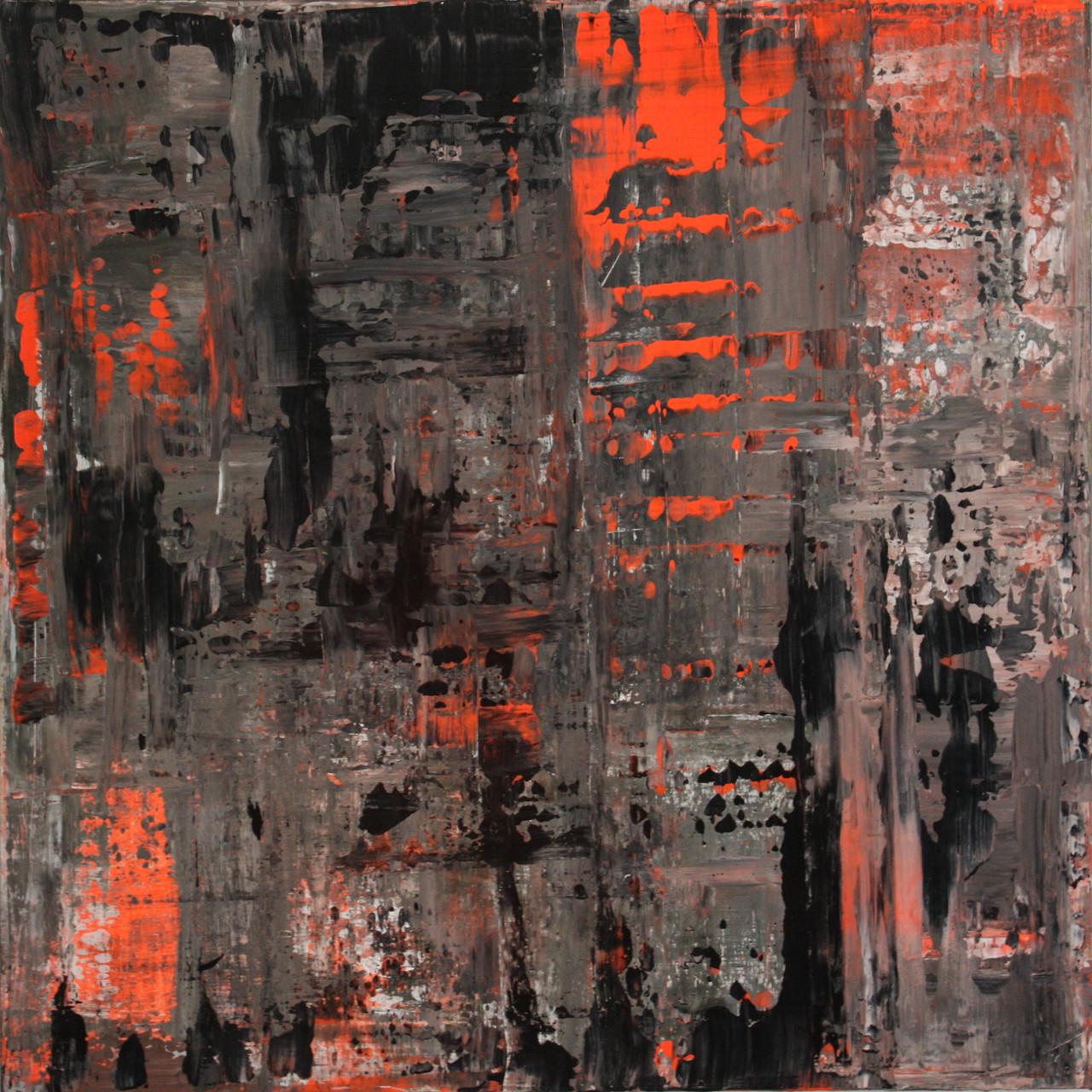 """2014-06 / """"Fluss Bild 1"""" / 100 x 100 cm"""