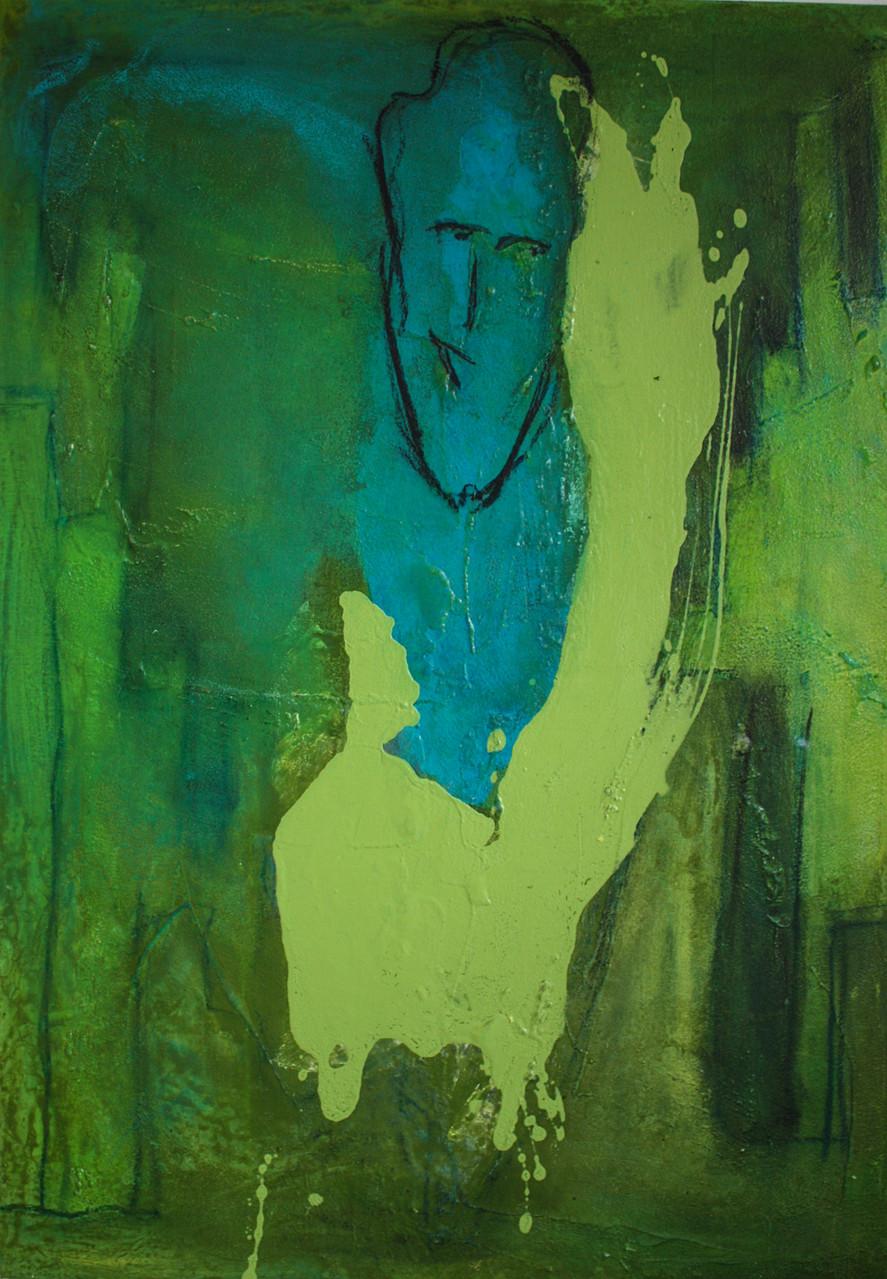 """2012-12 (2 von 2 Bilder) / """"Das Spiel der Farben"""" / 100 x 70cm"""