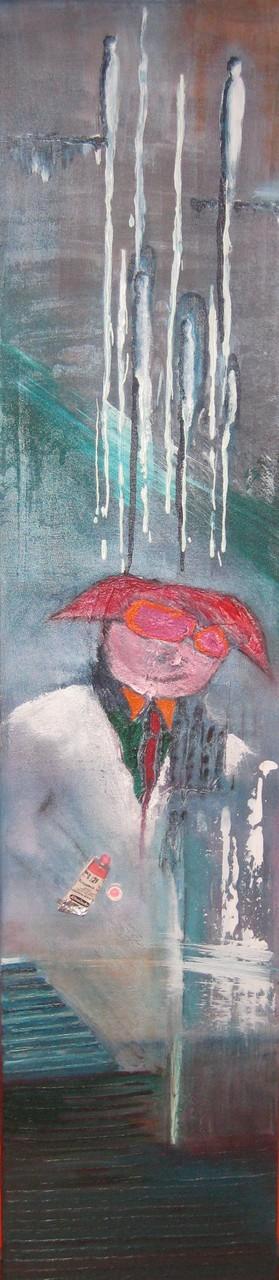 """2010-03 / """"Der skurrile Professor"""" / 30 x 160 cm"""