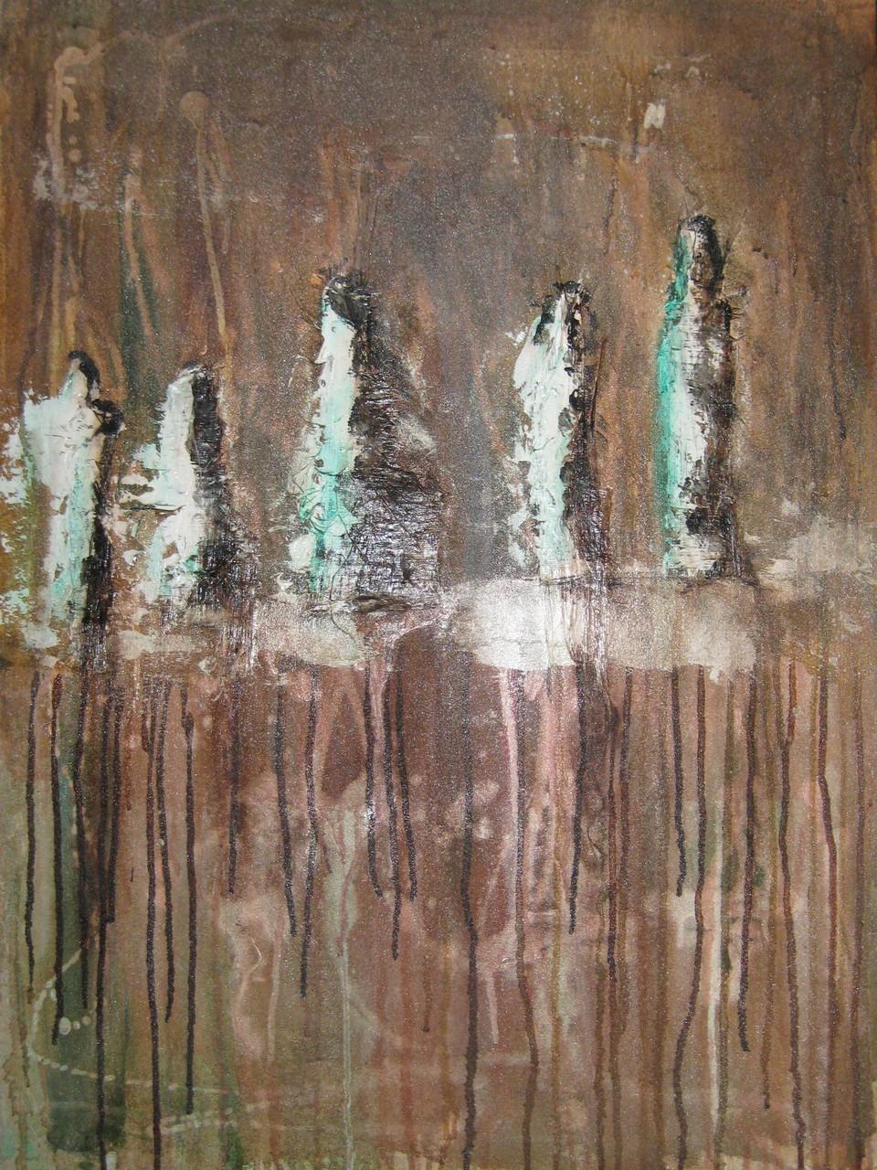"""2014-04 (1 von 2 Bilder) / """"Die Gruppe"""" / 60 x 80 cm"""