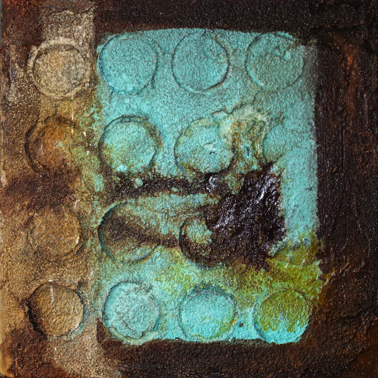 """2013-02 / """"Der Kreis in Komposition"""" / 40 x 40 cm"""