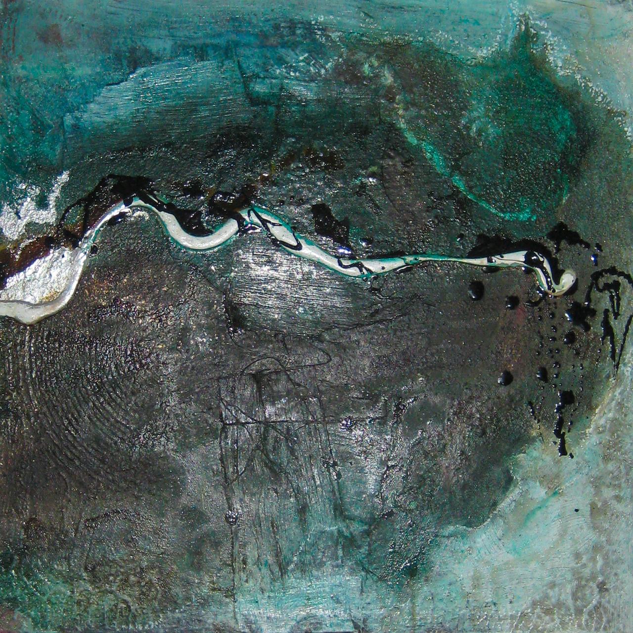 """2014-01 (2 von 2 Bilder ) / """"Farbfluss I"""" / 40 x 40 cm"""