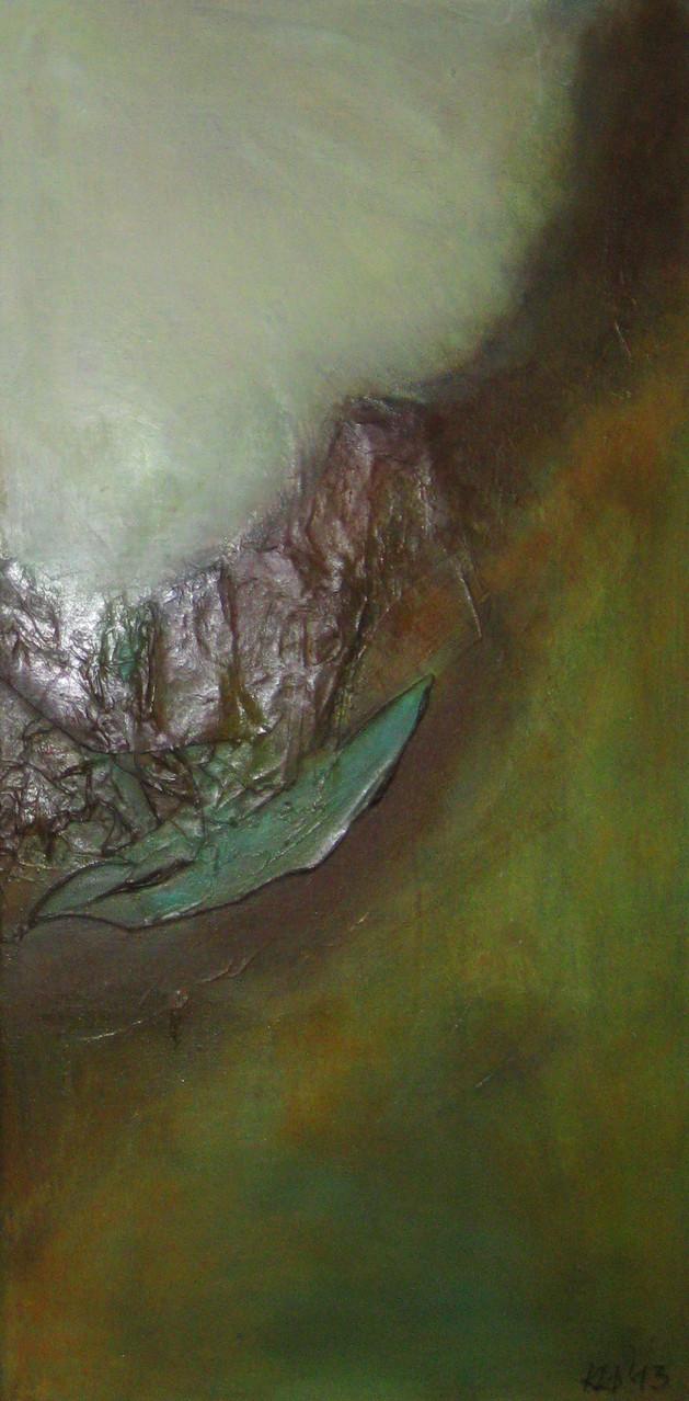 """2013-11 / (2 von 2 Bilder) """"Oxidation IV"""" / 40 x 80 cm"""