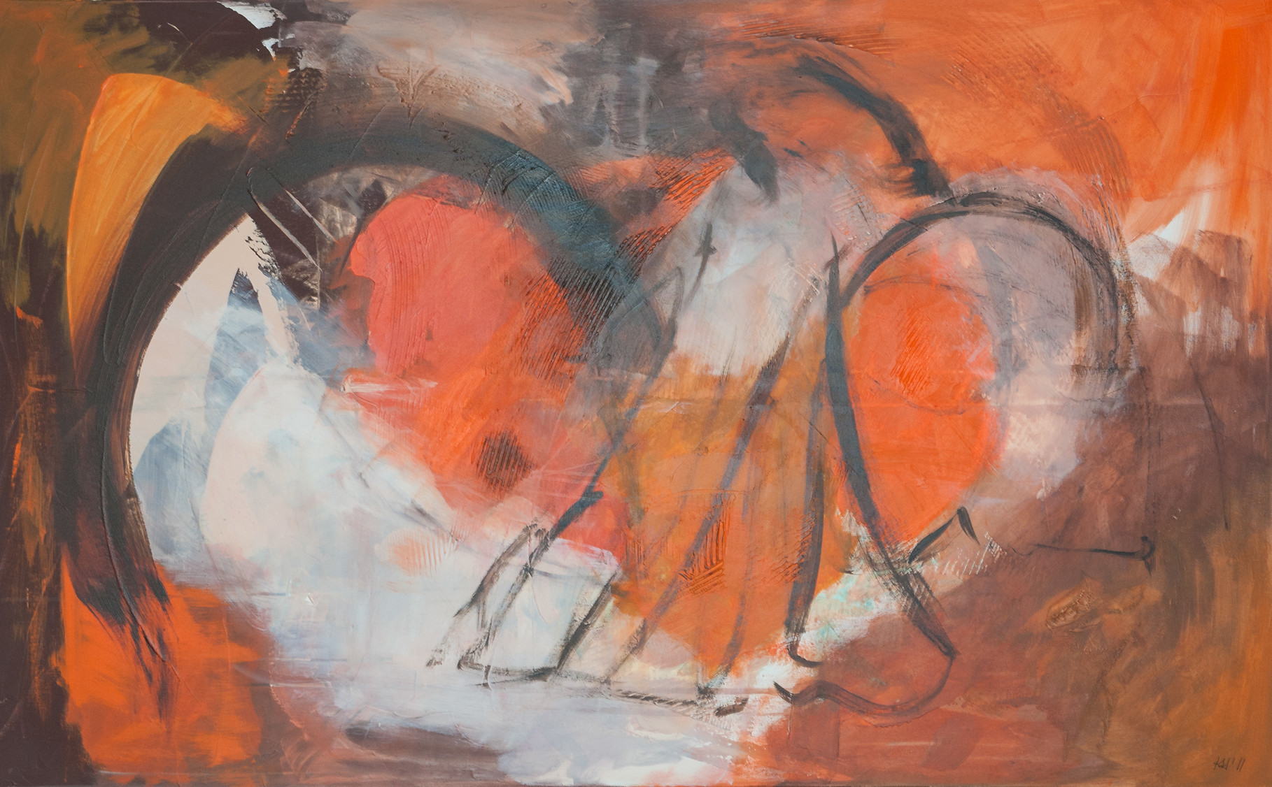 "2011-07 / ""Engelsenergie"" / 100 x 160 cm"