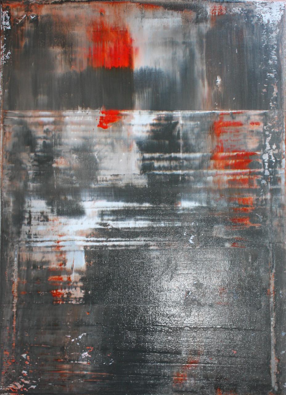"""2014-15 / """"Fluss Bild 10"""" / 50 x 70 cm"""