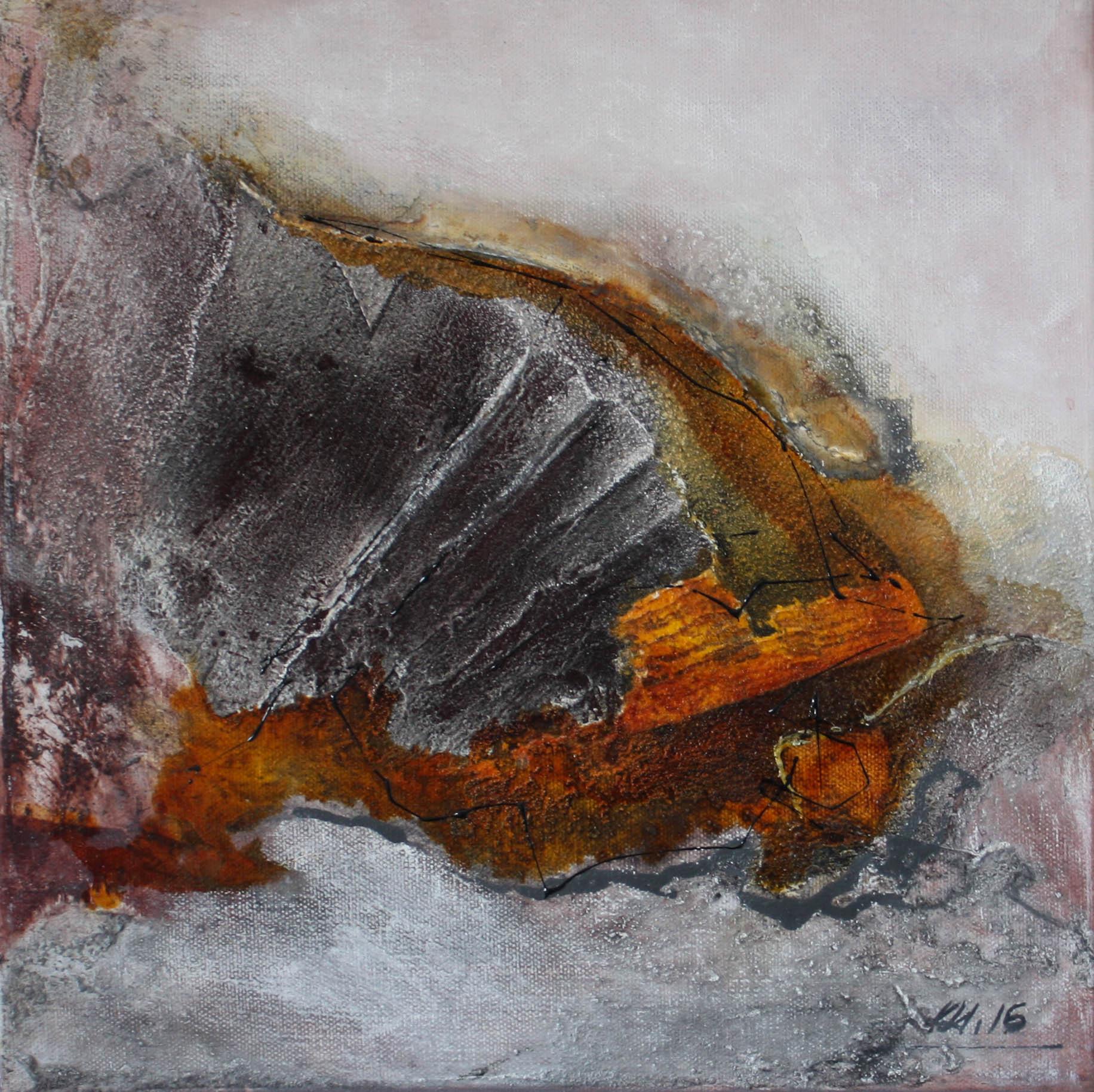 """2016-06 / """"Erde I"""" / 30 x 30 cm"""