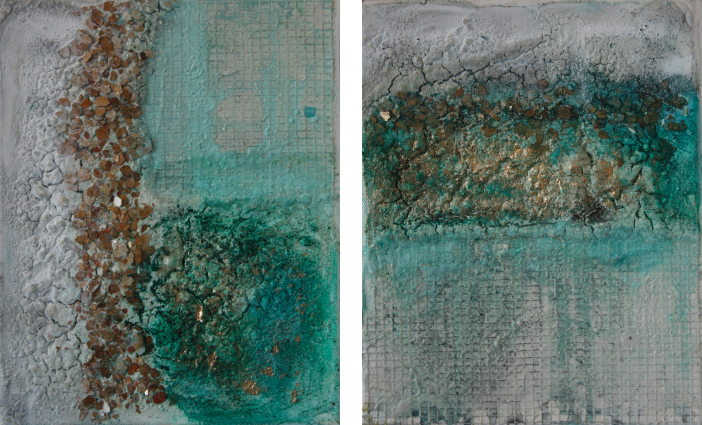 """2016-11 / (2 Bilder) """"Goldrausch"""" / jeweils 20 x 25 cm"""