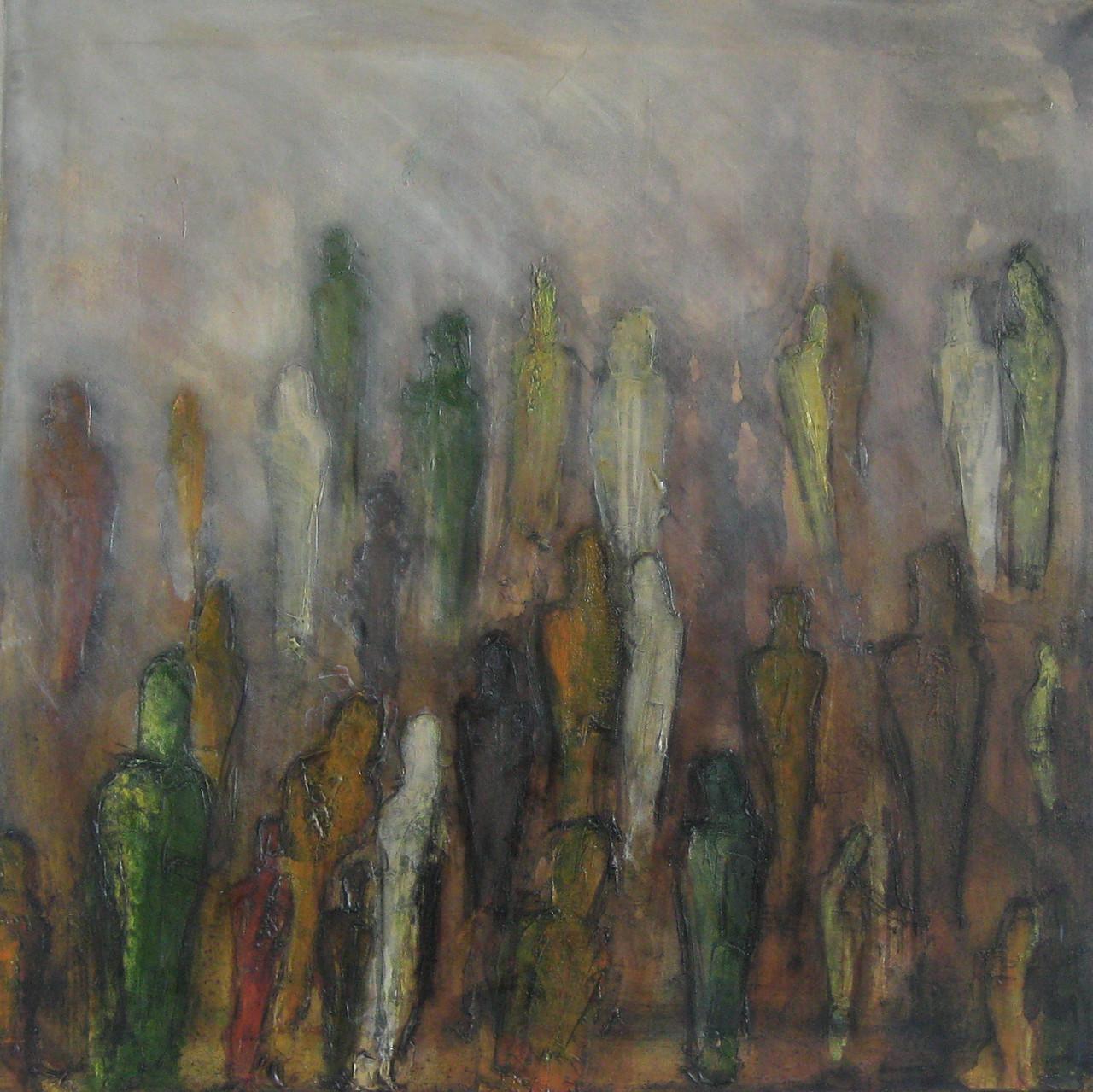 """2012-10 / """"Ins Licht"""" / 60 x 60 cm"""