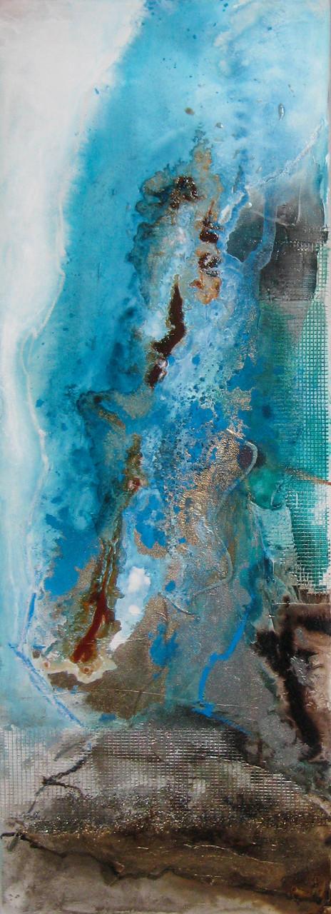 """2015-05 (1 von 2 Bilder) / """"Der Paradiesvogel"""" / 40 x 120 cm"""