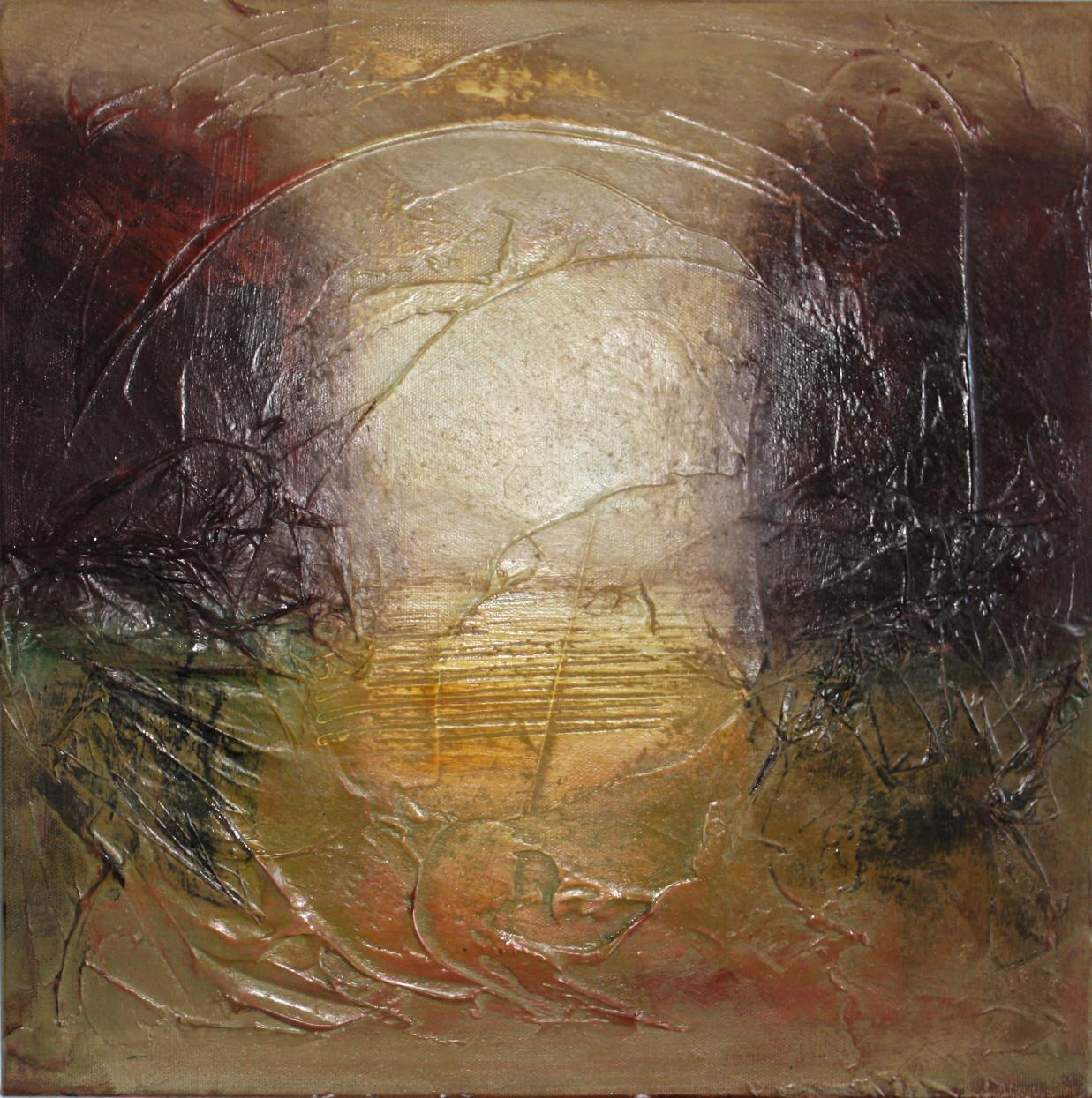 """2012-10 / """"Ins Licht"""" / 40 x 40 cm"""