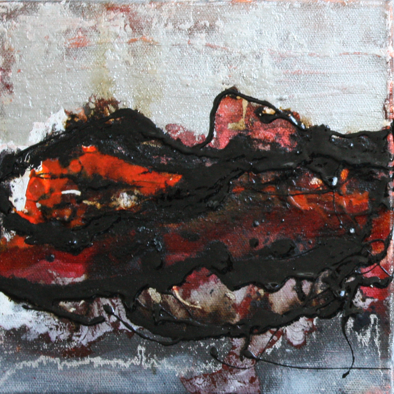 """2014-16 (1 von 2 Bilder) / """"Im Fluss"""" / 20 x 20 cm"""