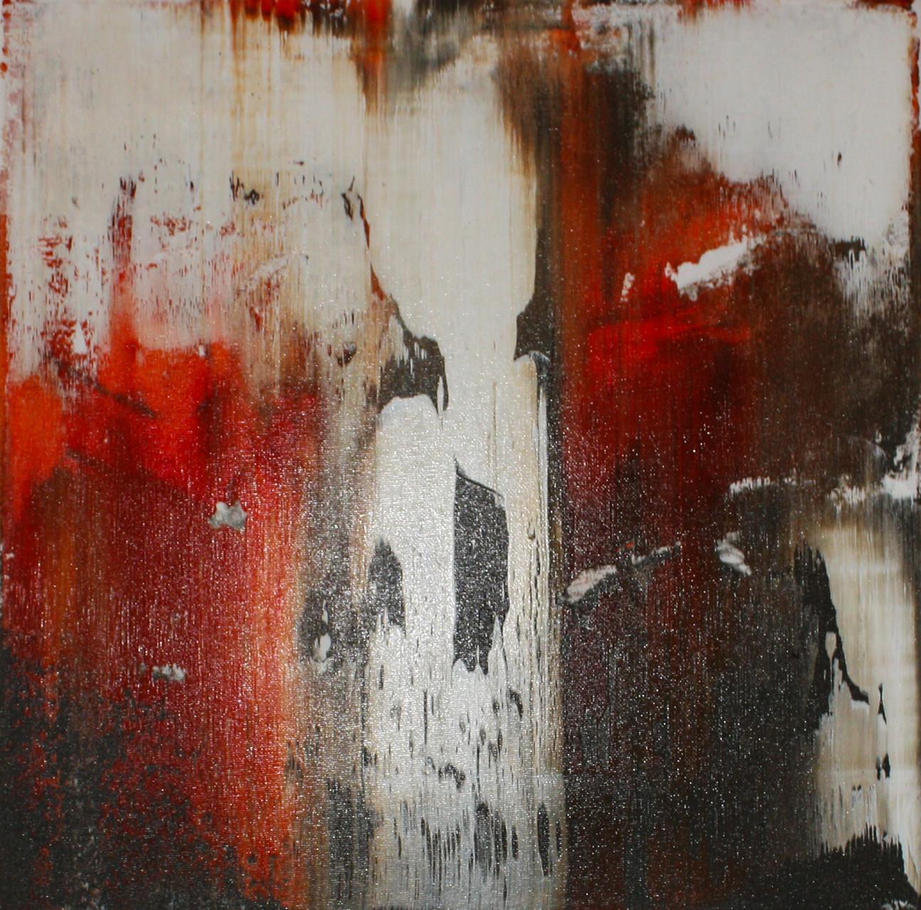 """2014-13 / """"Fluss Bild 8"""" / 40 x 40 cm"""