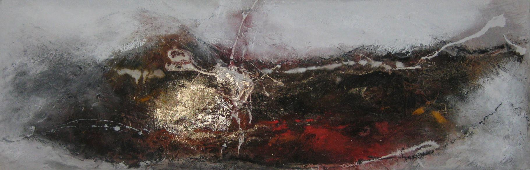 """2015-09 / """"Landschaft"""" / 40 x 120 cm"""