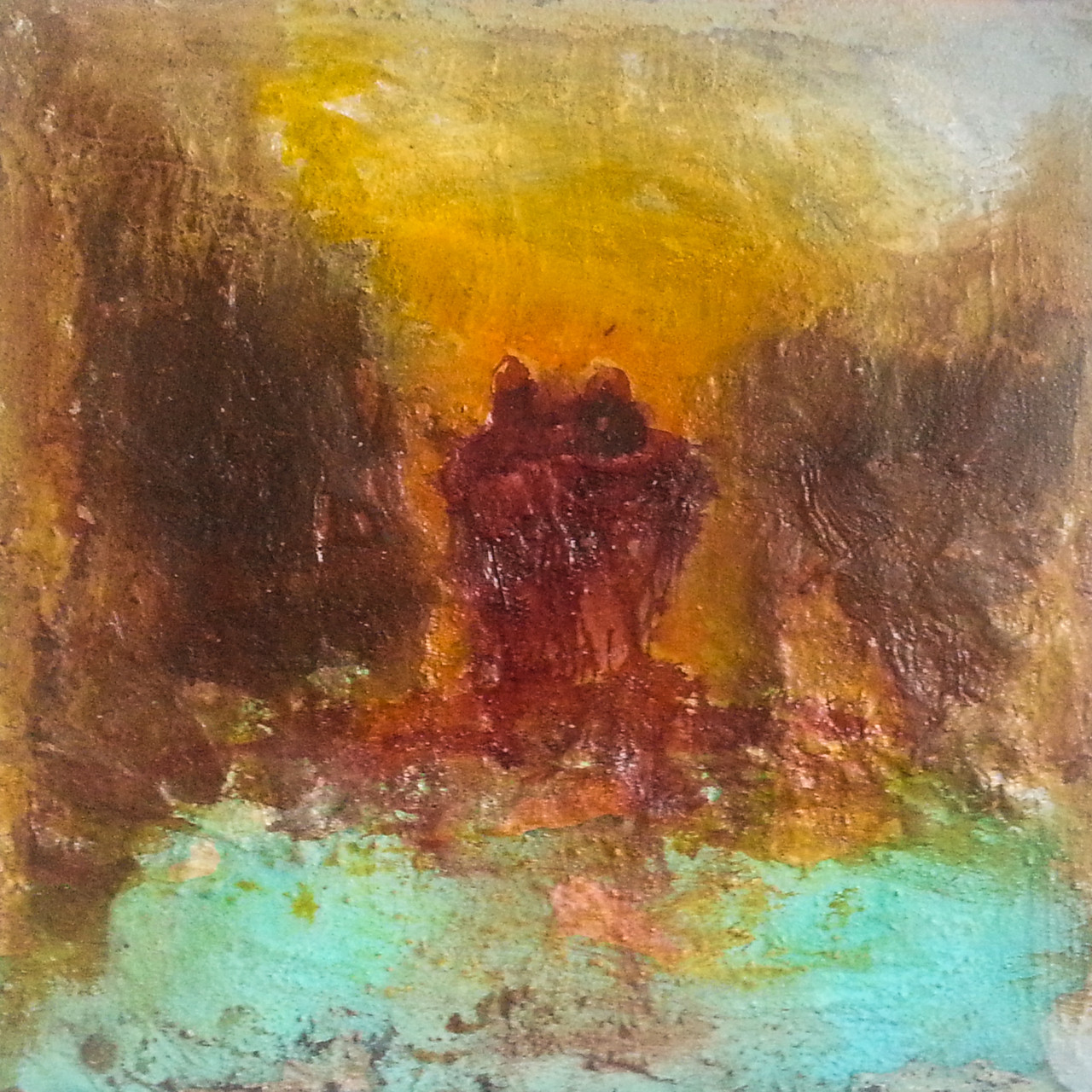 "2013-09 / ""Der Sonnenuntergang"" / 40 x 40 cm"