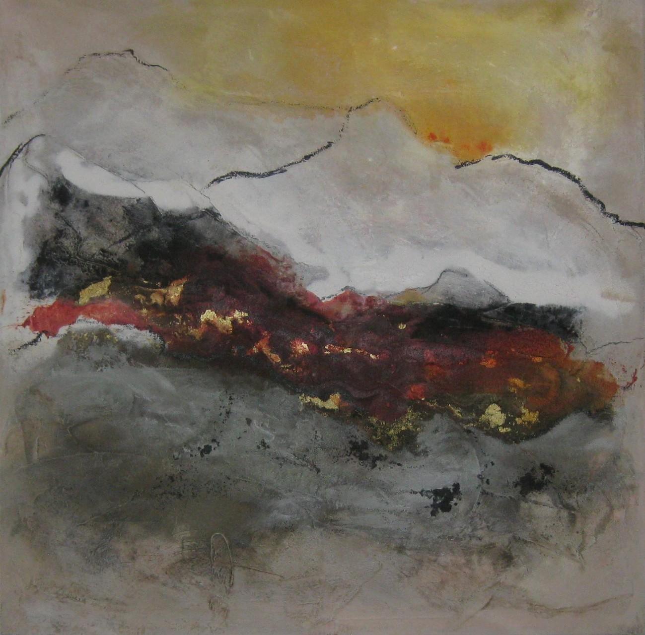"""2015-14 / """"Landschaft I"""" / 80 x 80 cm"""