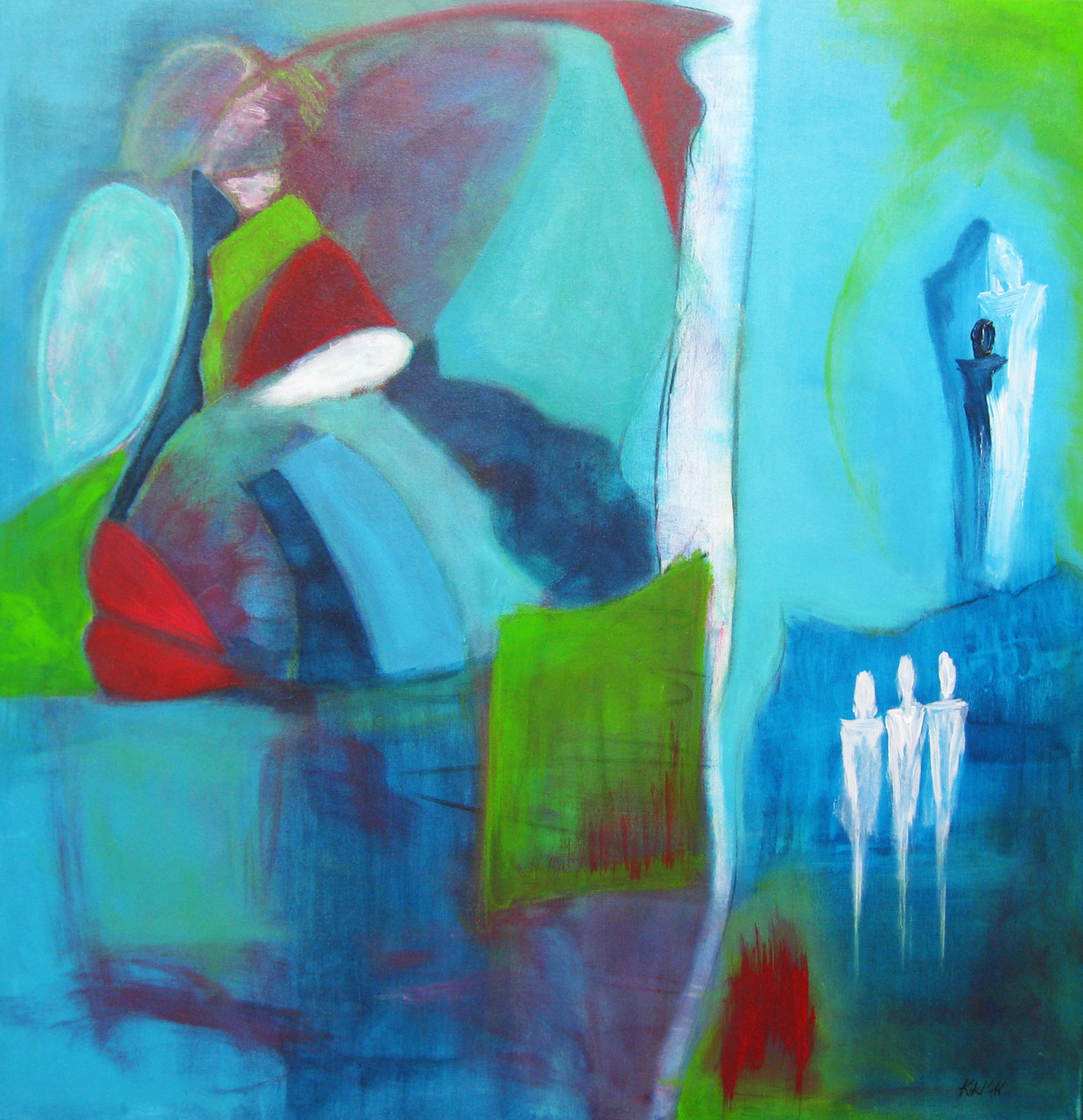 """2011-01 / """"Sehnsucht"""" / 80 x 80 cm"""