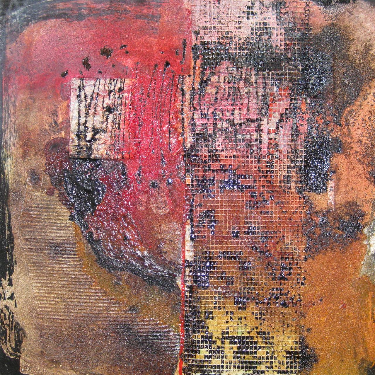 "2014-05 / ""Farbfluss"" / 40 x 40 cm"