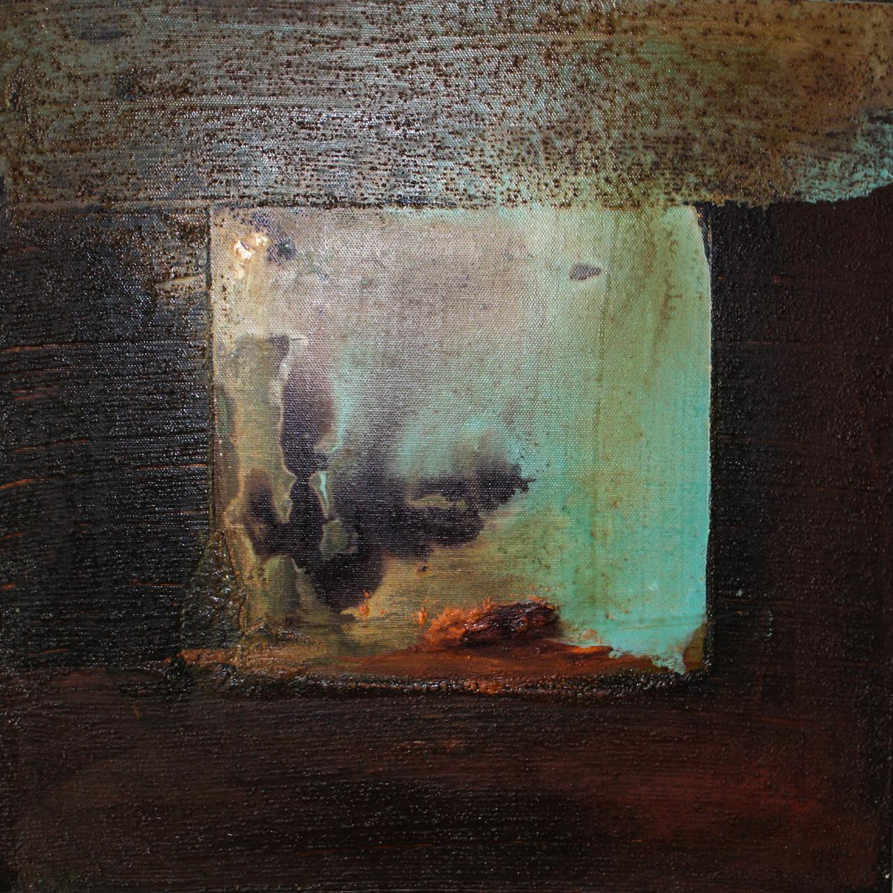 """2013-04 / """"Das Quadrat im Mittelpunkt"""" / 40 x 40 cm"""
