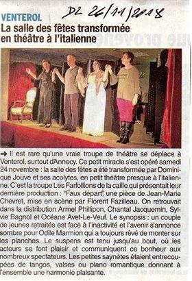 Edition du Dauphiné Libéré de Nyons (26)