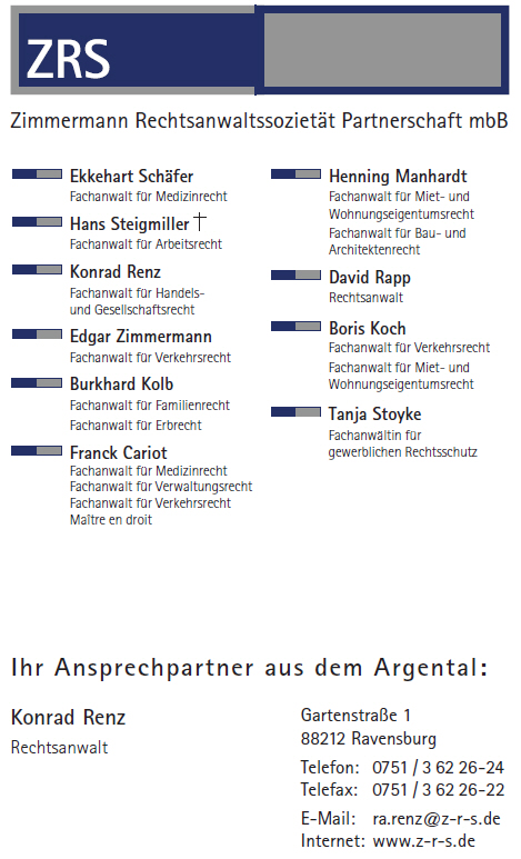 Zimmermann Rechtsanwaltssozietät Partnerschaft mbB
