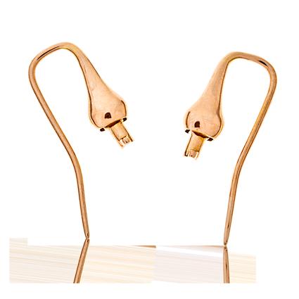 Ohrringe in Rotgold mit Einhängern aus der Gipsy Kollektion der Goldschmiede OBSESSION Zürich und Wetzikon
