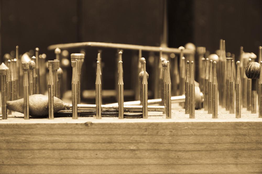 Typisches Werkzeug für den Goldschmied