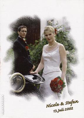 Liebe Alex, vielen herzlichen Dank für die schöne Perlenkette. Sie passte vorzüglich zu meinem weissen Kleid und den Ohrringen. Wir haben viel Freude an unsere Eheringen..... unser Hochzeit war einfach toll. Alles Gut, Nicole & Stefan