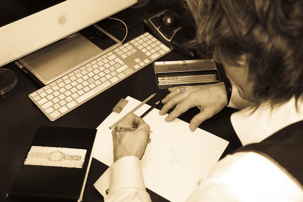 Entwürfe für die Kunden, Handzeichnungen zur besserer Verständigung