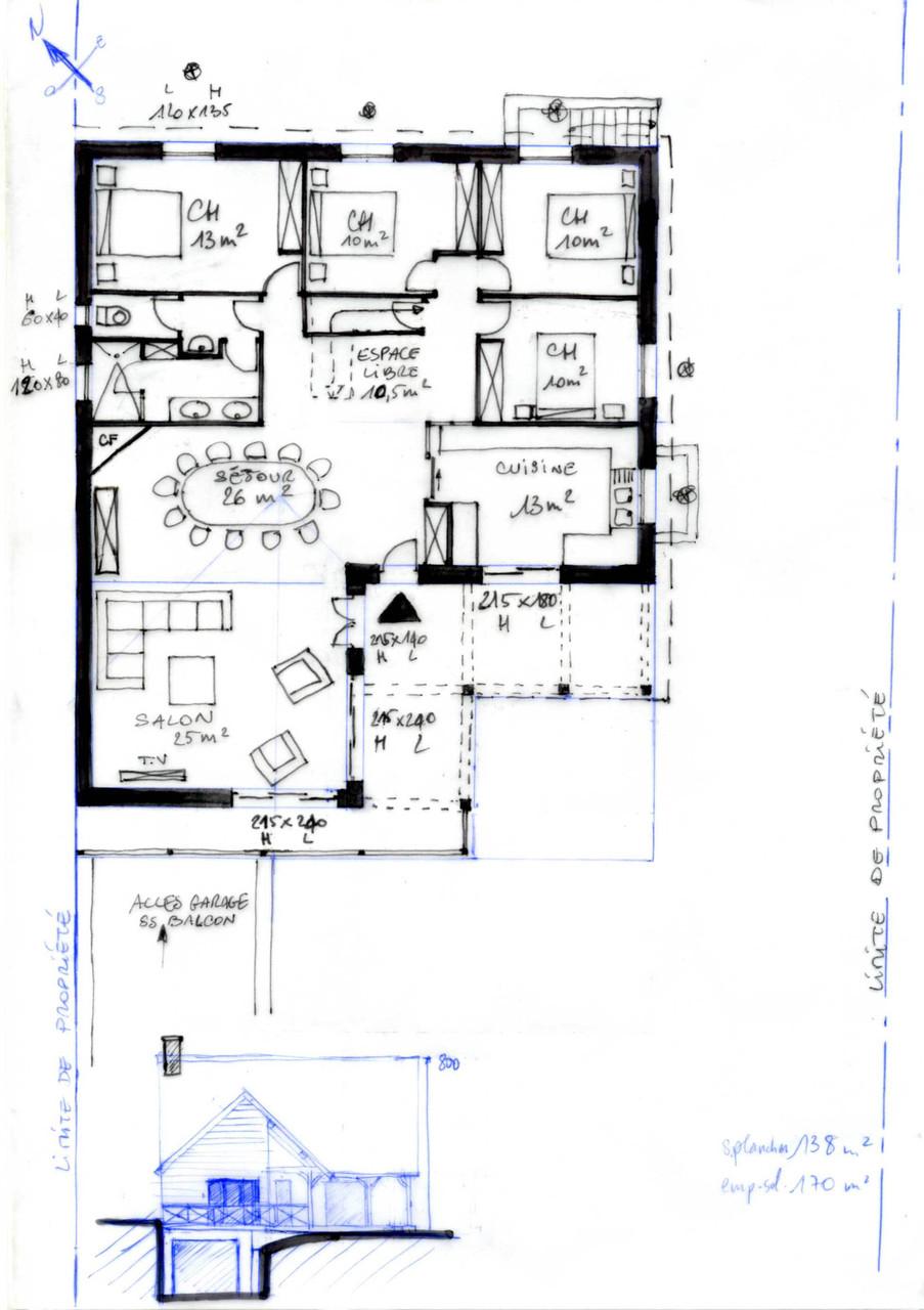 permis de construire lucarne avec vue. Black Bedroom Furniture Sets. Home Design Ideas