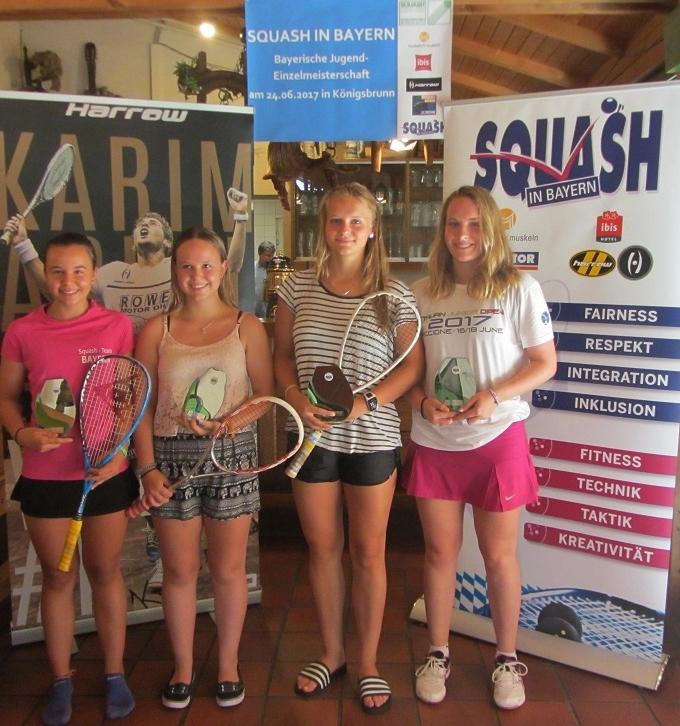 ganz rechts: Julia Stöger, 3. Platz im Feld U19