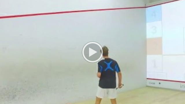 interactiveSQUASH Trainings Court: Area Chase