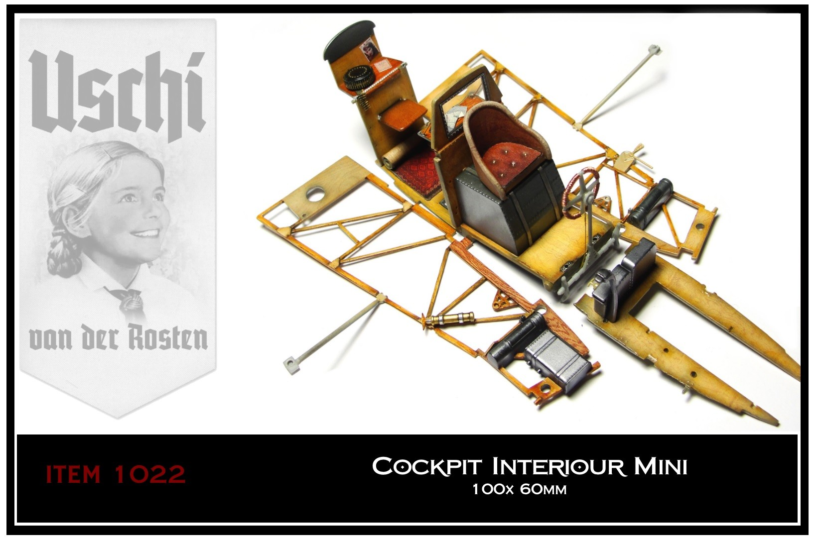 Wood Grain Decal 1022 Cockpit Interiour Mini Uschi Van