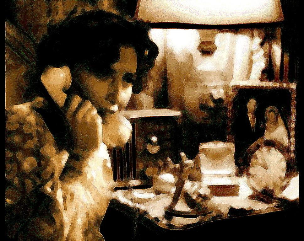 Tableau Gegenstände Bedrohung Telefon Gefühl