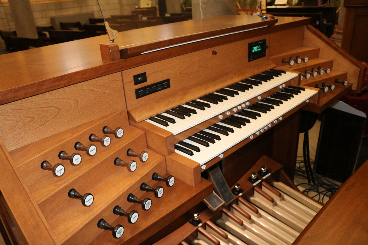 Console de l'orgue Inspiration de sept rangs