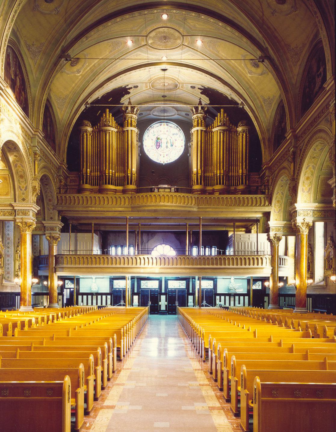 Église du Très-Saint-Nom-de-Jésus, Montréal, QC - orgue de gallerie