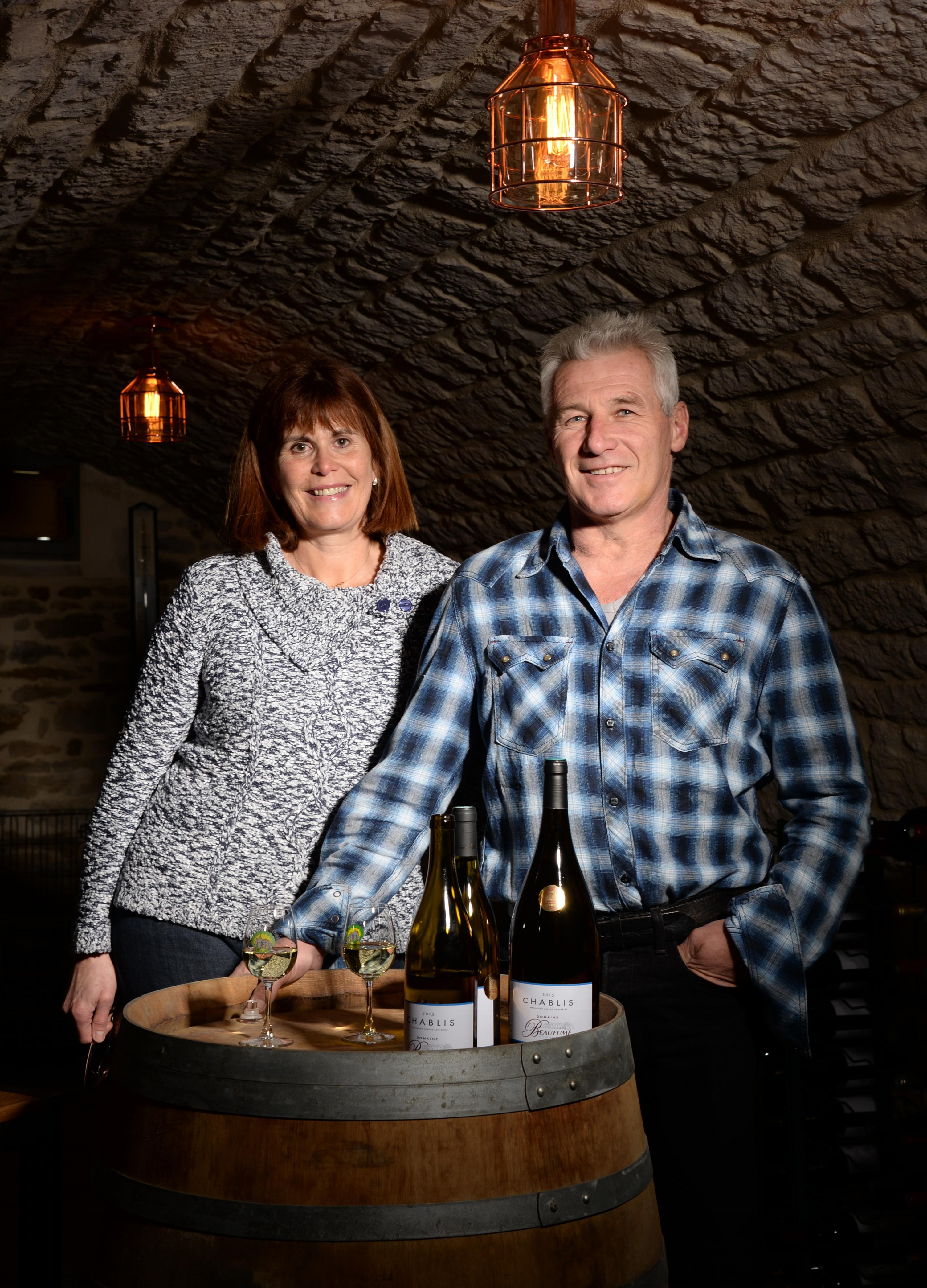Valérie et Bernard Beaufumé Domaine Beaufumé vins de Chablis