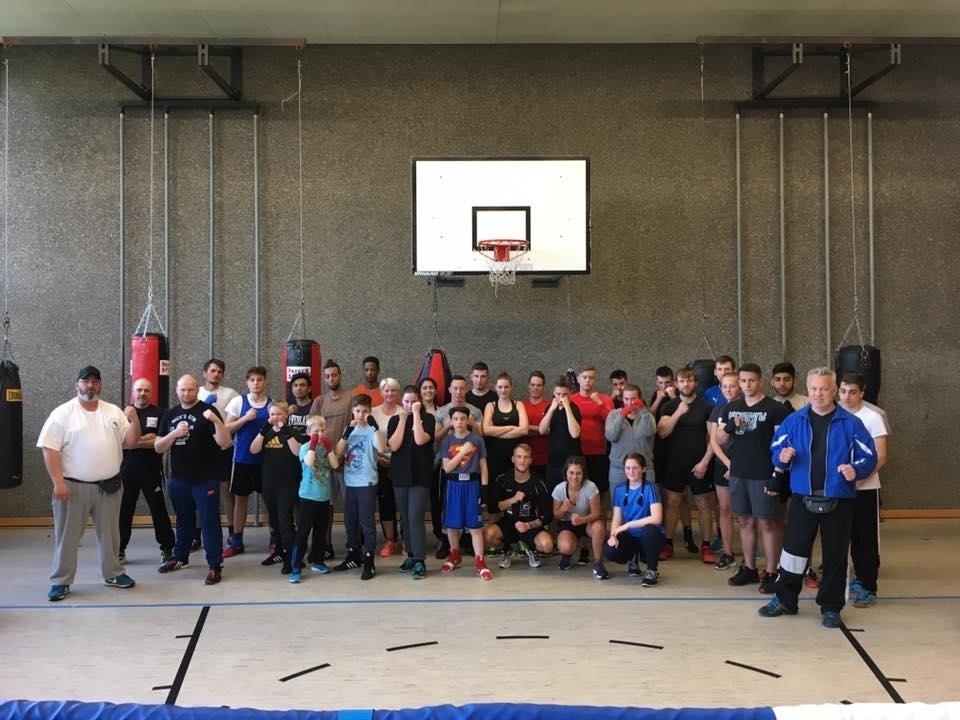 Gemeinsames Training mit dem 1. Box-Club Homburg/Saar und dem SSV Wellesweiler Boxen