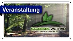 """Aktionstag """"Sauberes Wethau"""" am 18.09.2021"""