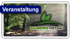 "Zweiter Aktionstag ""Sauberes Wethau"""