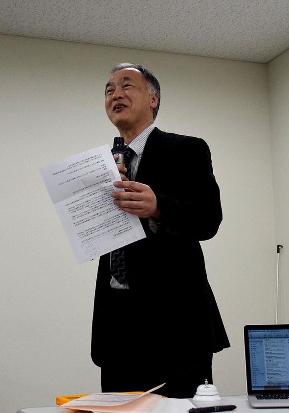 開会式(佐藤宏介大会実行委員長の挨拶)