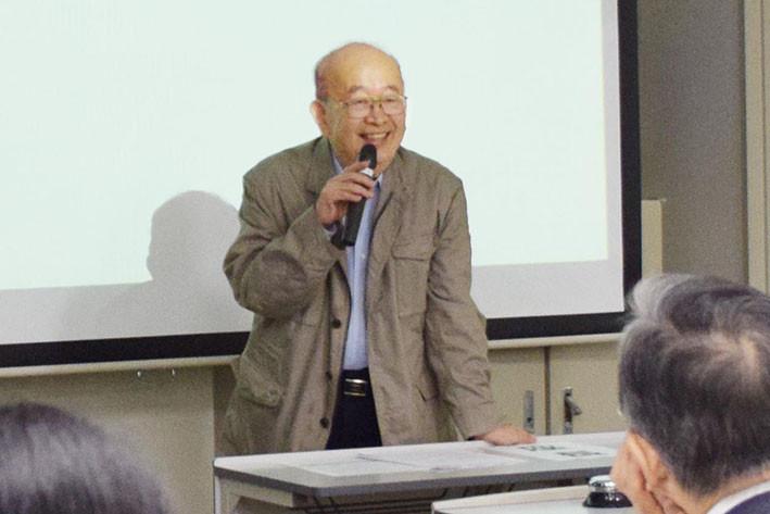 開会式(植村俊亮大会実行委員長の挨拶)