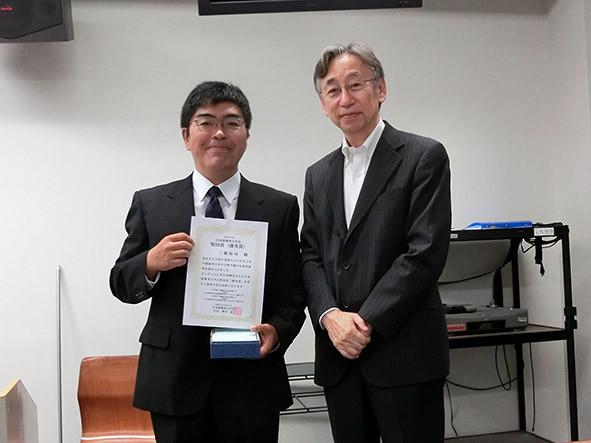 学会賞授与式 「堅田賞(優秀賞)」:三瓶裕司氏