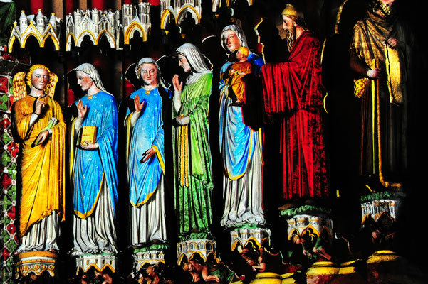 Somme Tourisme - Somme groupes - Voyage - Séjour - Somme - Amiens - Chroma - Cathédrale d'Amiens - Spectacle immersif - polychromies - 800 ans Cathédrale d'Amiens - Patrimoine mondiale de l'UNESCO
