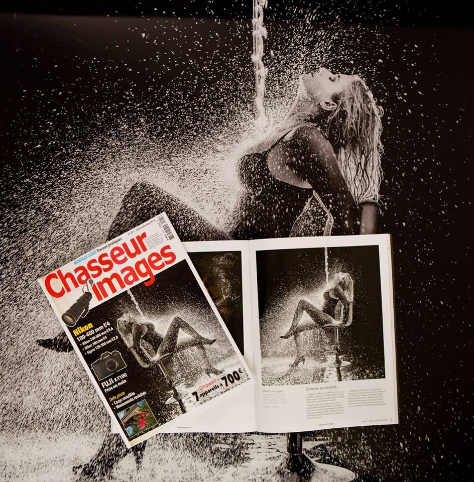 séance photo artistique; eau; première de couverture de chasseur d'images