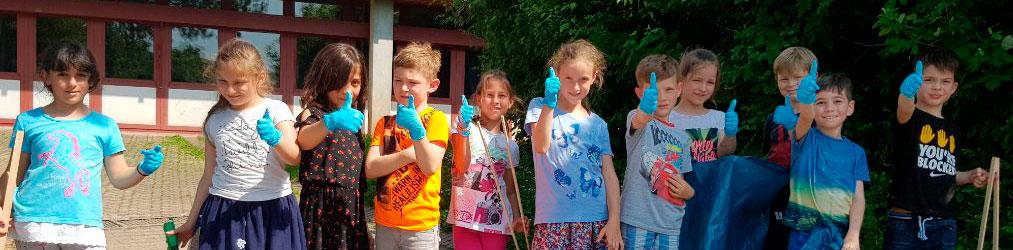 Letz´s Putz Aktion an der Steinenbergschule in Stuttgart Hedelfingen